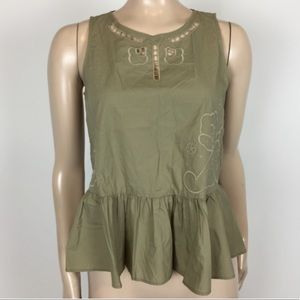 Made well Peplum Embroidered Top NWOT